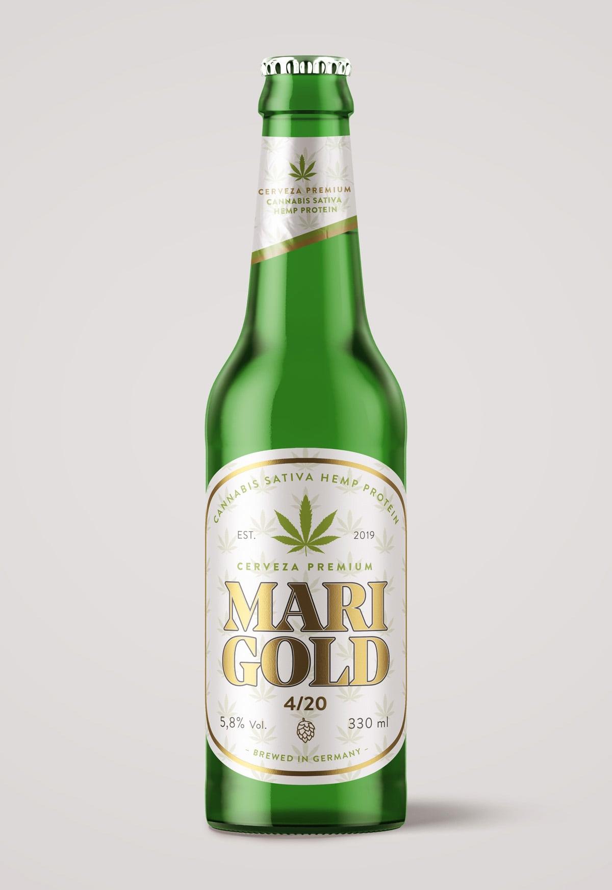 Diseño de etiqueta para cervezas