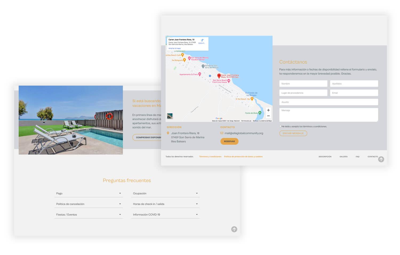 Diseño web para alquiler vacacional